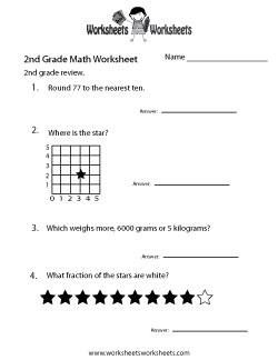 Second Grade Math Practice Worksheet