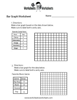 Simple Bar Graph Worksheet