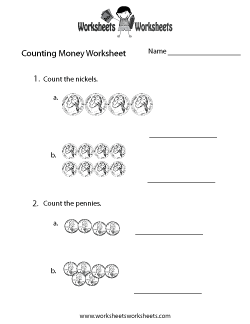 Practice Counting Money Worksheet