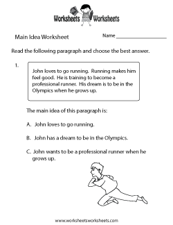 Main Idea Practice Worksheet
