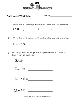 Place Value Test Worksheet