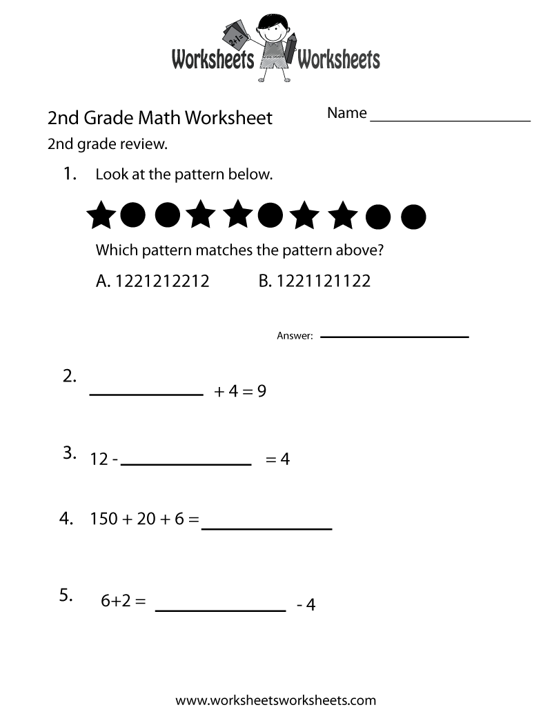 Math Worksheets 2Nd Grade Printable – 2nd Grade Multiplication Worksheet