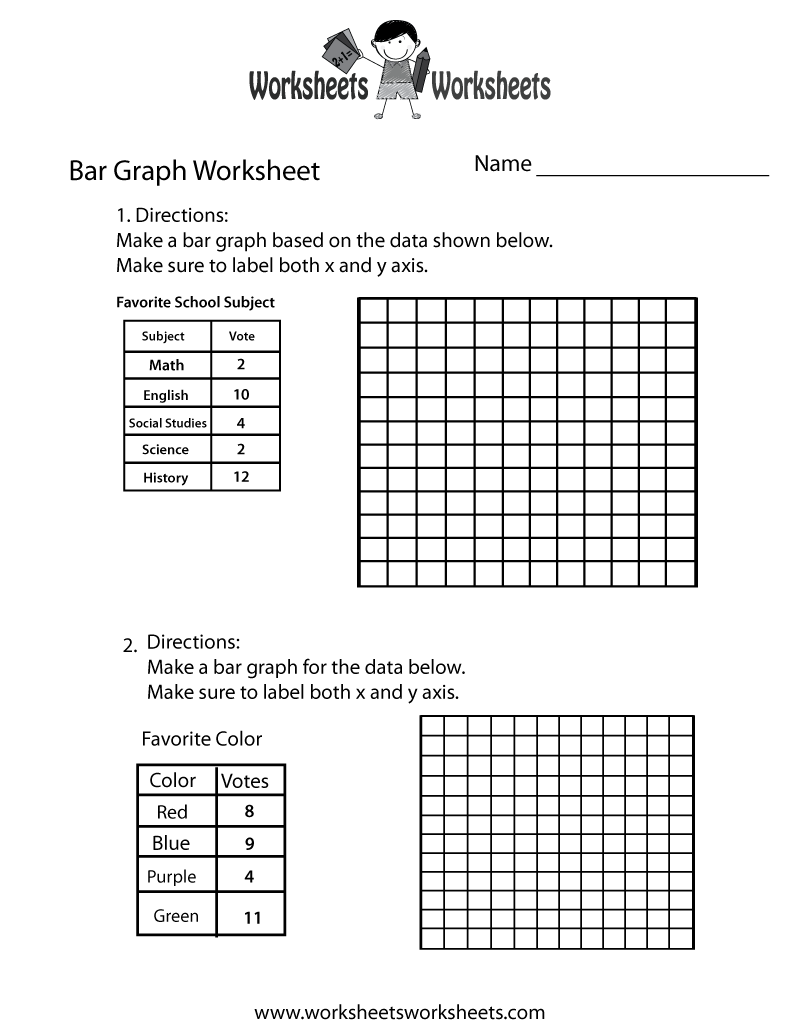 Making Bar Graph Worksheet Printable