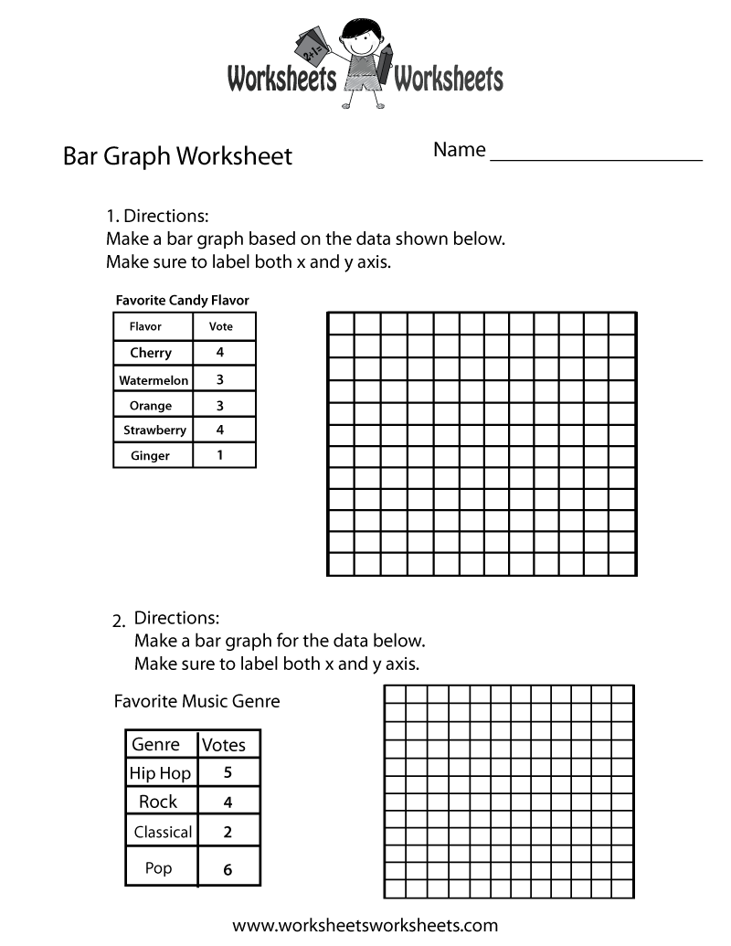 Simple Bar Graph Worksheet - Free Printable Educational Worksheet