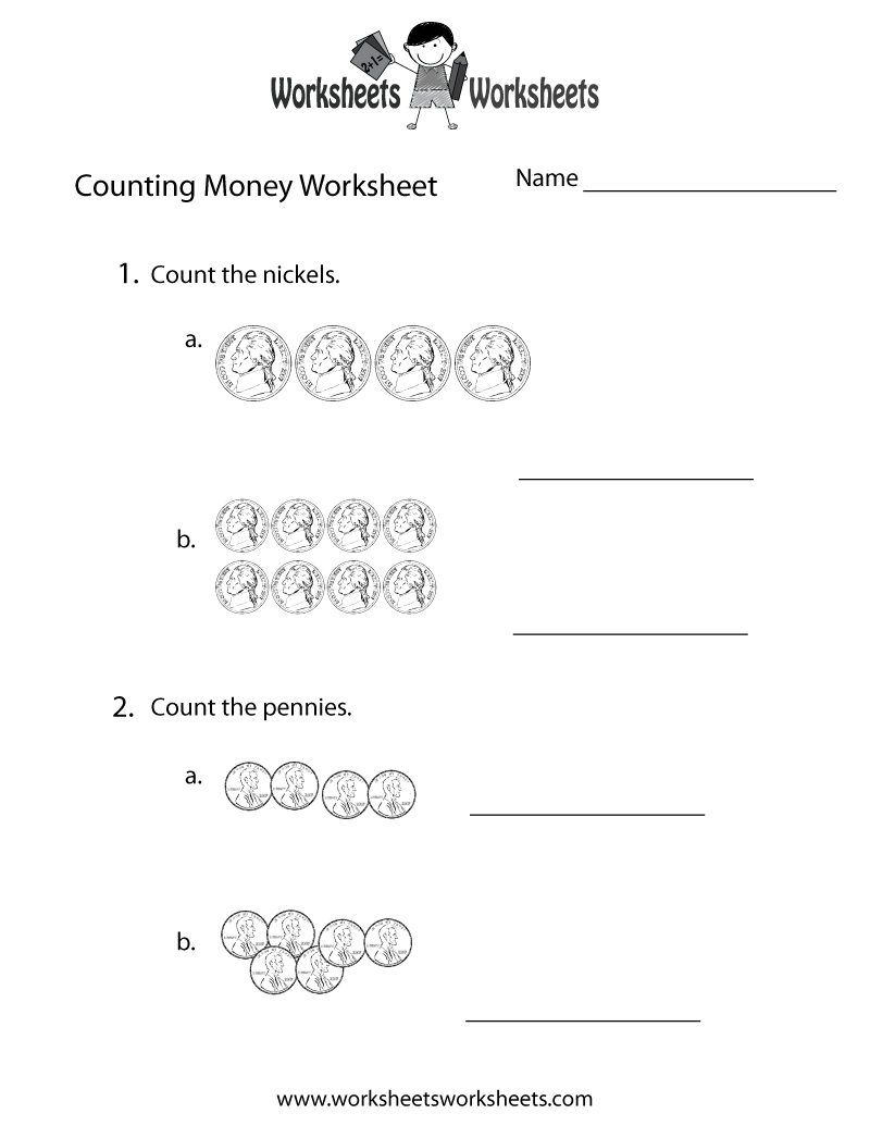 Practice Counting Money Worksheet Printable