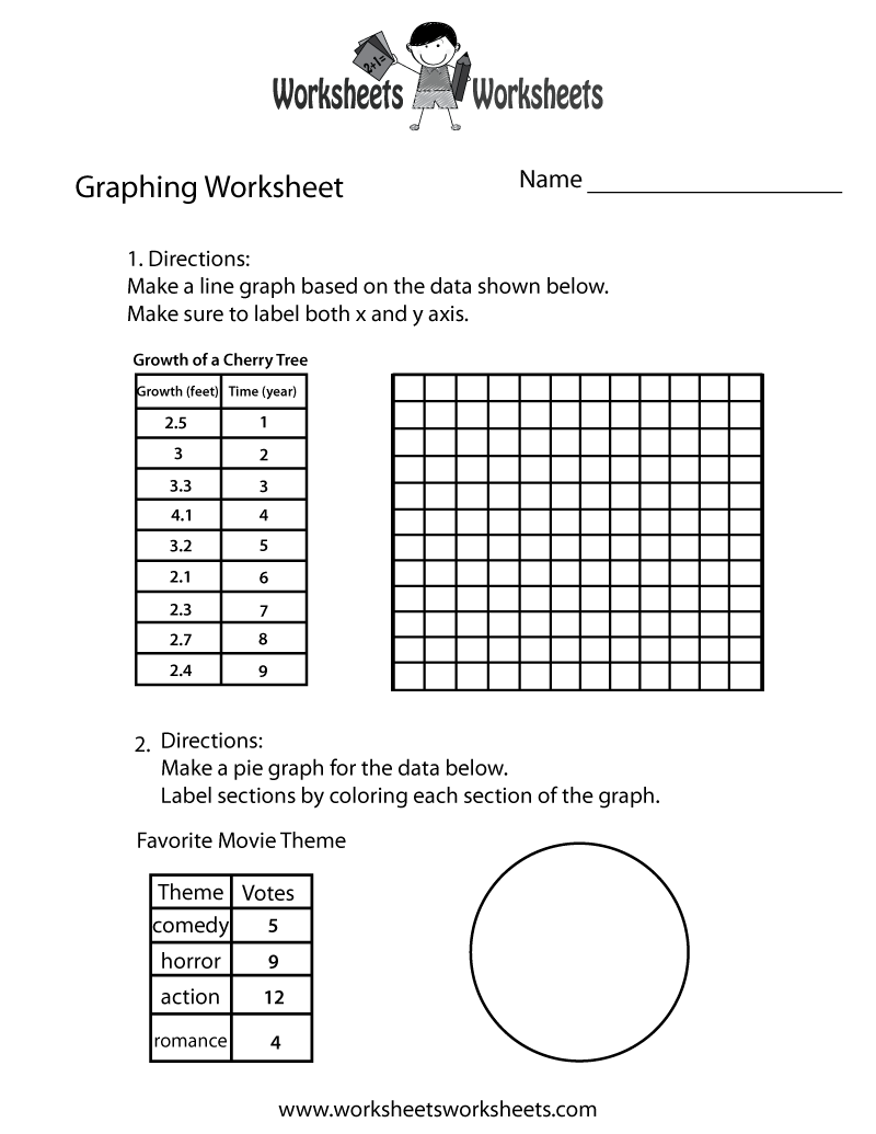 Worksheets Graphing Worksheet make a graph worksheet free printable educational printable