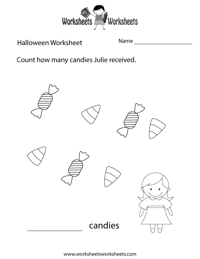 Halloween Counting Worksheet Printable