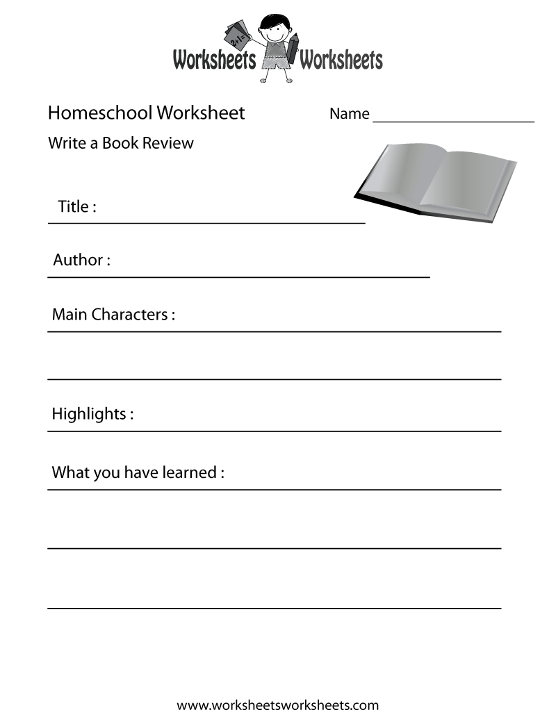 Free Printable Homeschool English Worksheet