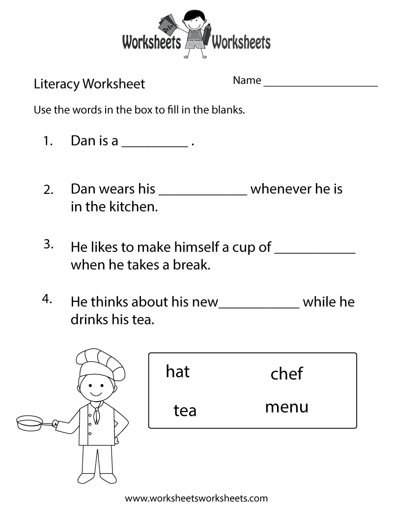 Fun Literacy Worksheet Printable