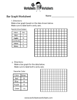 Making Bar Graph Worksheet