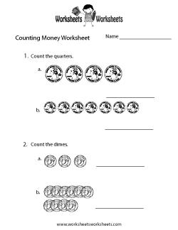 Easy Counting Money Worksheet
