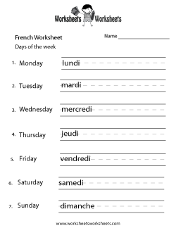 french worksheets free printable worksheets for teachers and kids. Black Bedroom Furniture Sets. Home Design Ideas