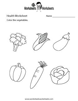 Simple Health Worksheet