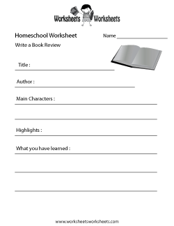Homeschool English Worksheet