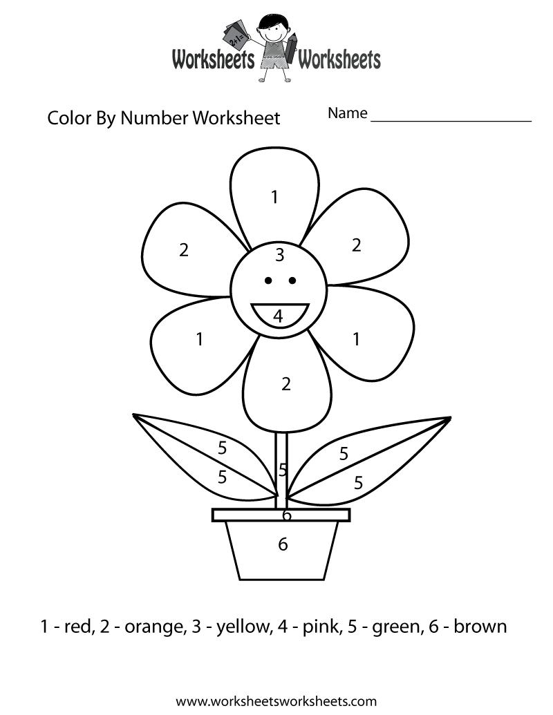 Easy Color By Number Worksheet Free Printable Educational Worksheet – Color Worksheets