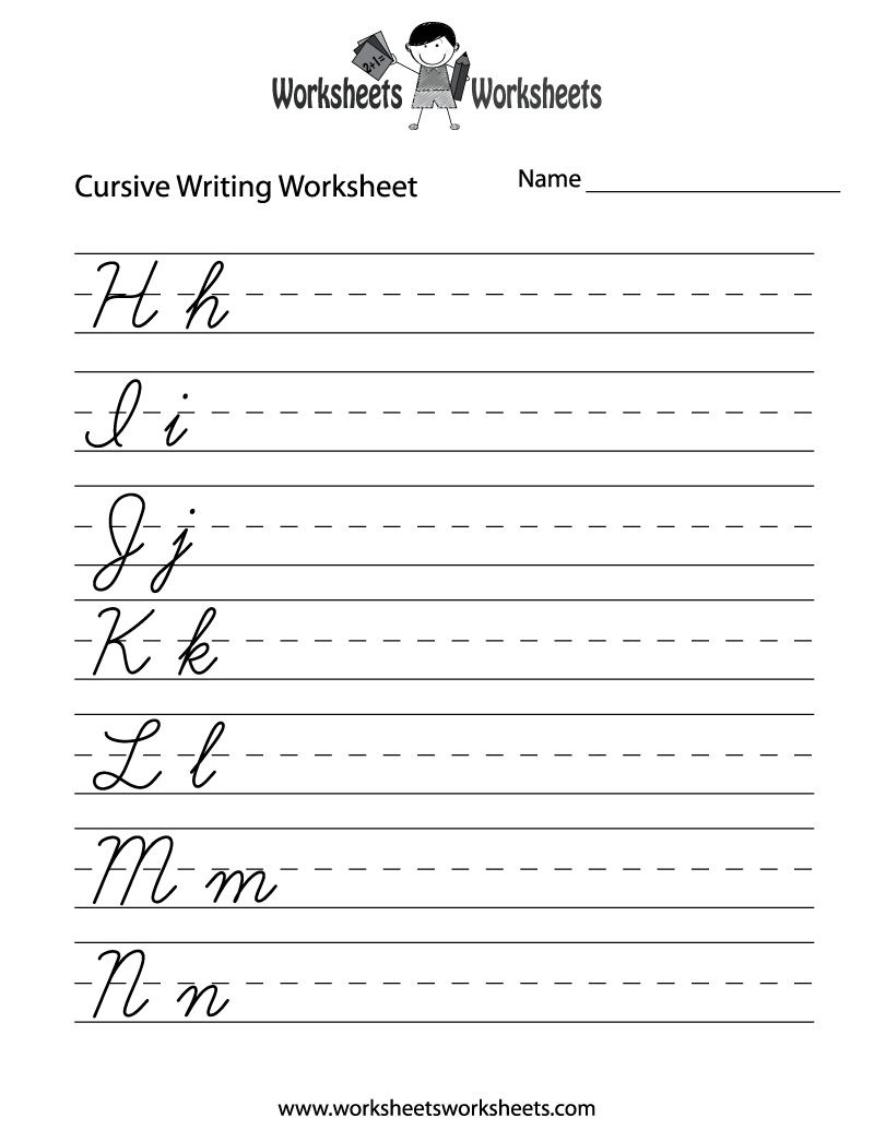 teaching cursive writing worksheet free printable. Black Bedroom Furniture Sets. Home Design Ideas