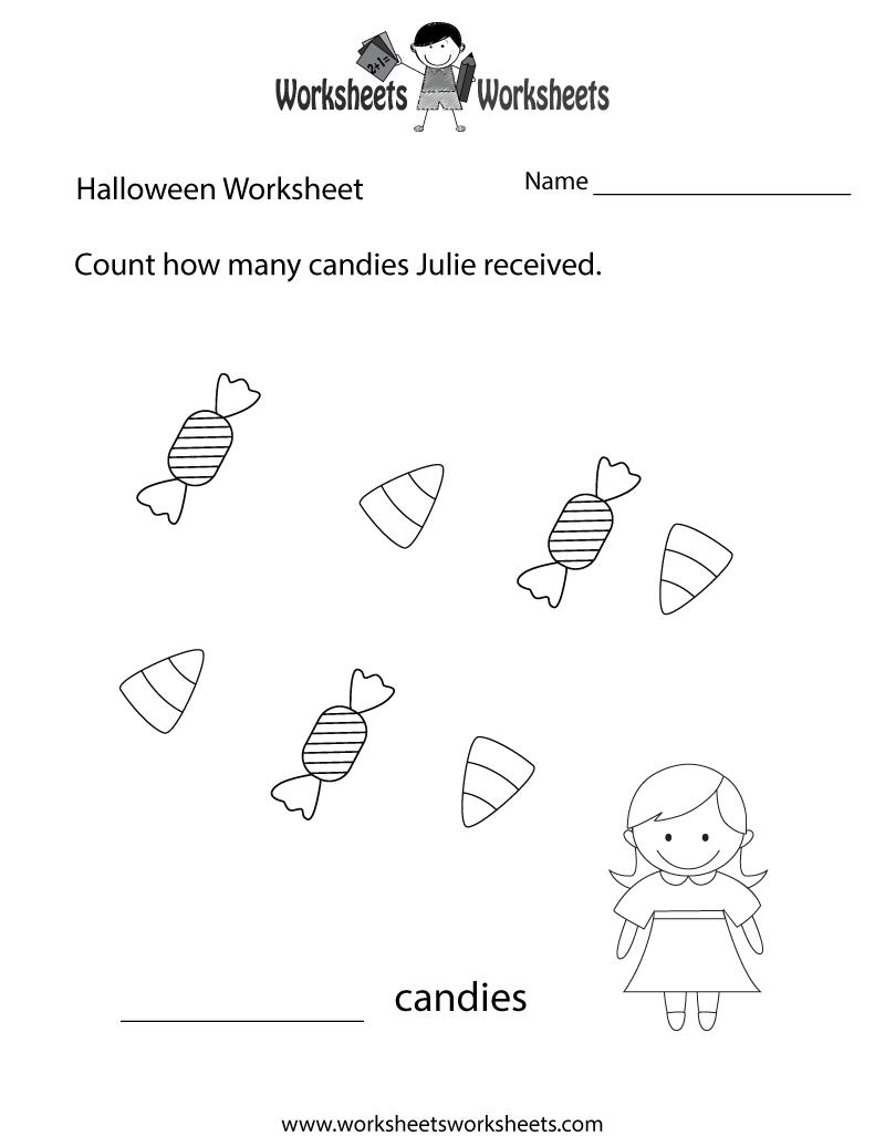 Halloween Counting Worksheet Printable