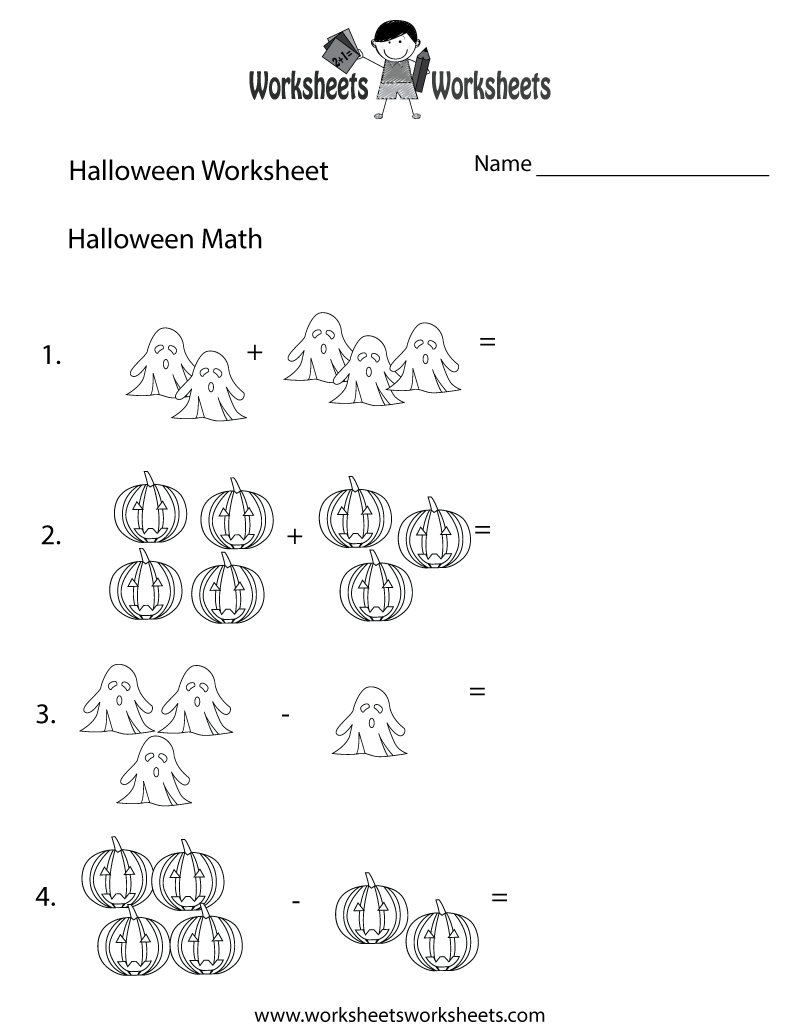 Halloween Math Worksheet Printable