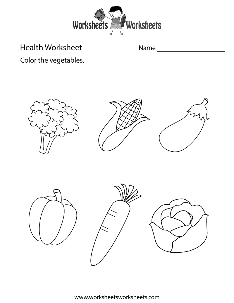 Simple Health Worksheet Printable
