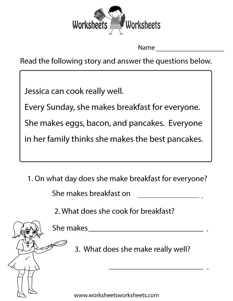Reading Worksheets Printable Virallyapp Printables Worksheets – Free Printable Reading Comprehension Worksheets for Kindergarten