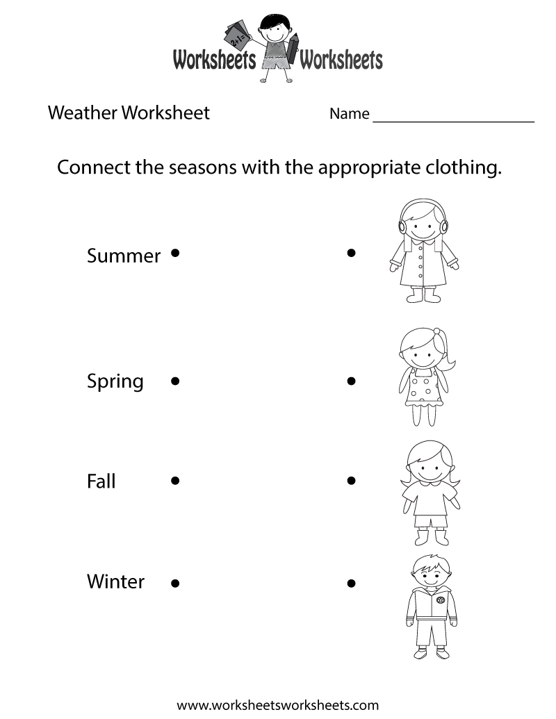 Weather Worksheet Printable